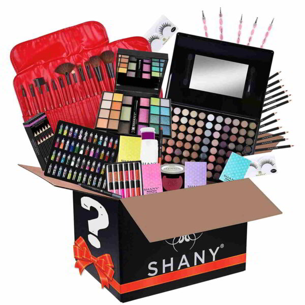 SHANY Gift Surprise - AMAZON EXCLUSIVE - All in One Makeup Bundle - Includes Pro Makeup Brush Set